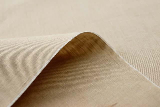 イタリア製綿麻綾織りシャンブレー服地