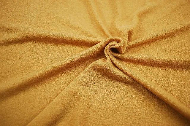 綿ニット生地カラシ:手芸ナカムラ