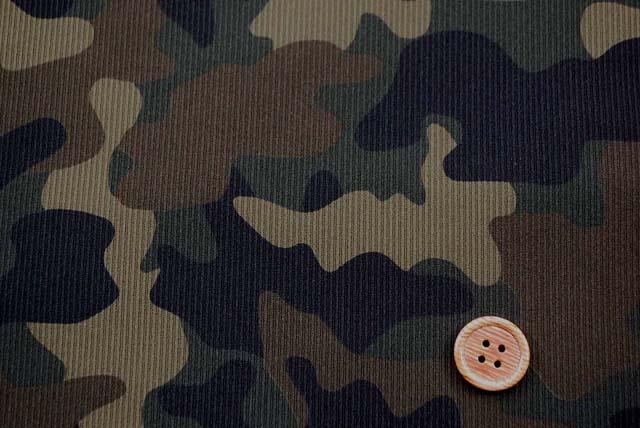 ハイテンションニットカモフラージュ生地
