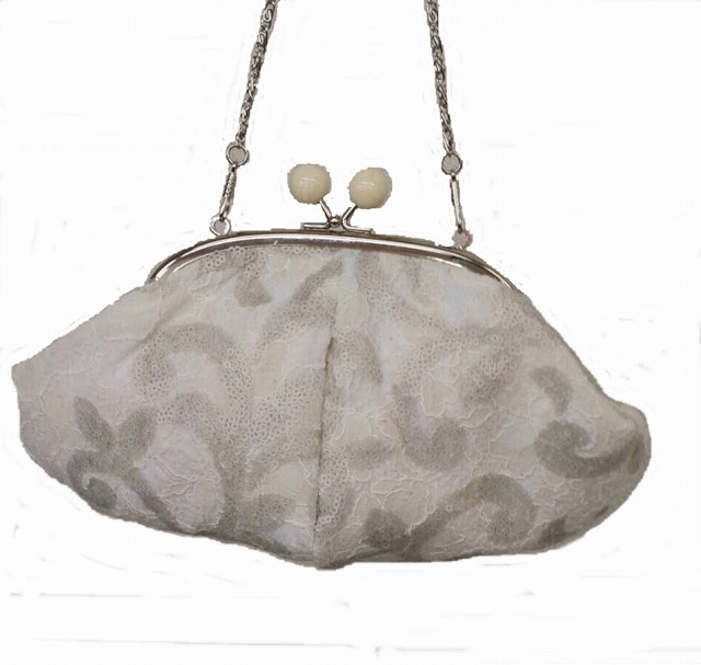 スパンコールラッセルレースのバッグ